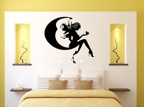 Moon Fairy Wall Sticker