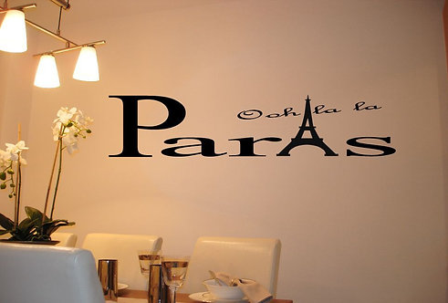Oh La La Paris Wall Sticker