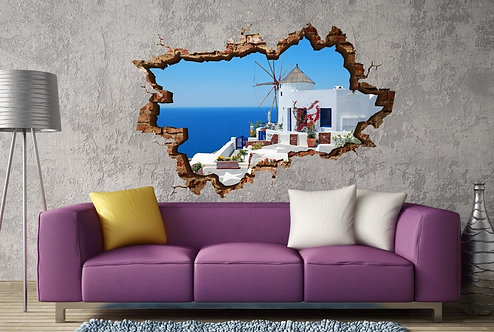 Greece 3D Wall Sticker