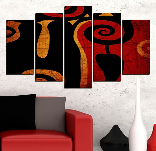 Chilly 5 Pieces MDF Painting