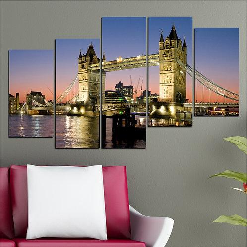 Tower Bridge (2) 5 Pieces MDF Painting