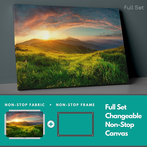 Green And Sunset Non-Stop Canvas Printings