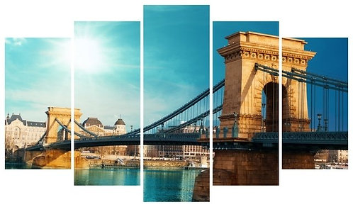 Chain Bridge 5 Pieces MDF Painting