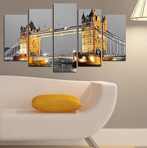 London tower bridge 5 Pieces MDF Painting