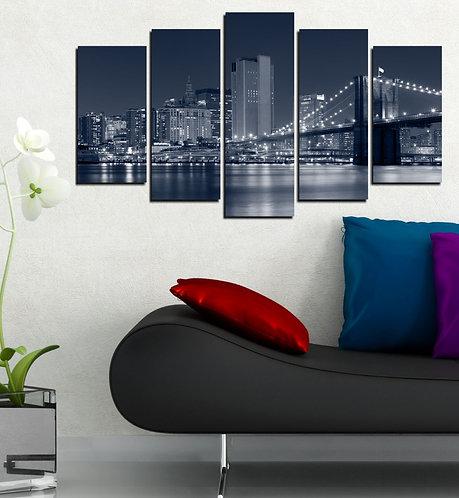 Brooklyn Bridge (6) 5 Pieces MDF Painting