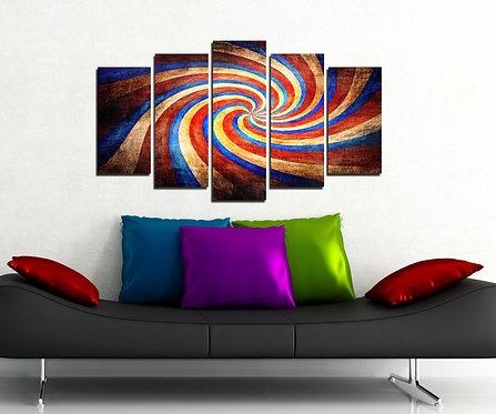 Swirl 5 Pieces MDF Painting