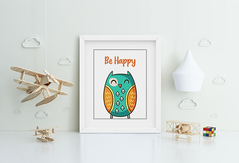 Owl-Be Happy Framed Printing