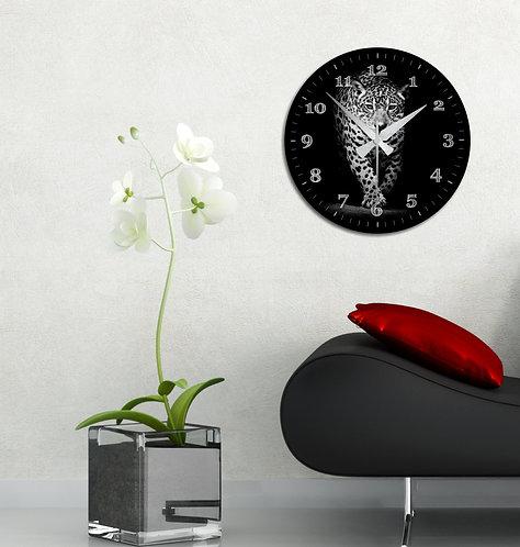 Leopard MDF Clock