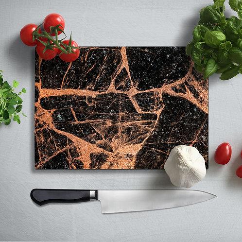 Marble Pattern Uv Printed Glass Chopping Board 35x25cm