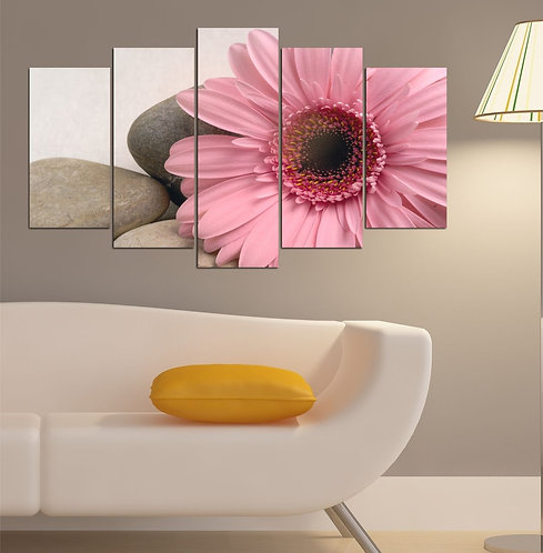 Flowers (2) 5 Pieces MDF Painting