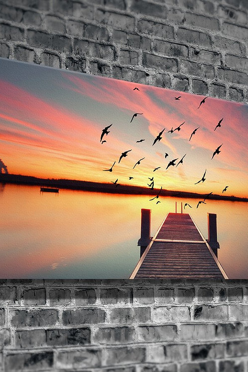 Sunset On The Pier  Canvas Printings