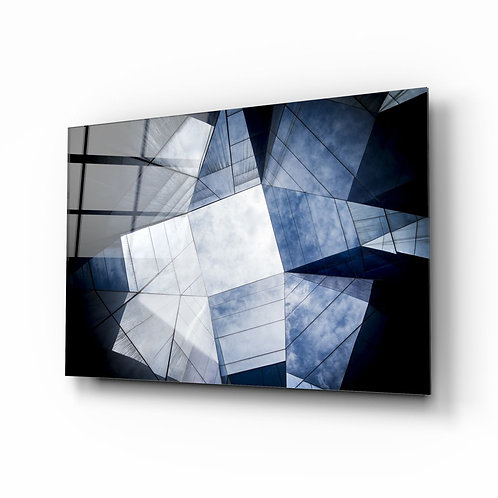Geometric Architecture Glass Painting