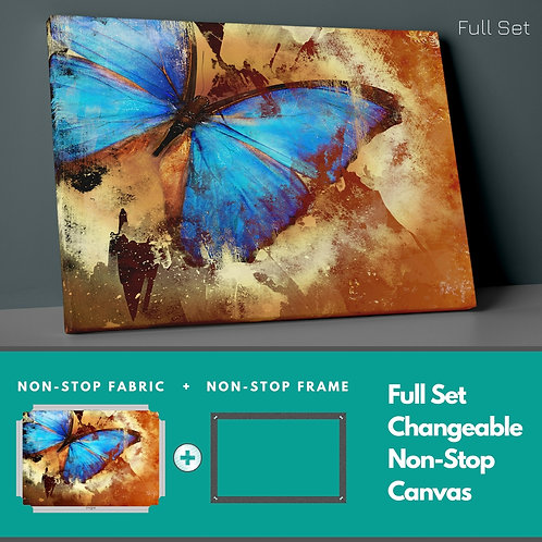 Blue Butterfly Non-Stop Canvas Printings