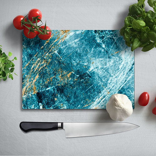 Marble Pattern  Uv Printed Glass Chopping Board 35x25 cm