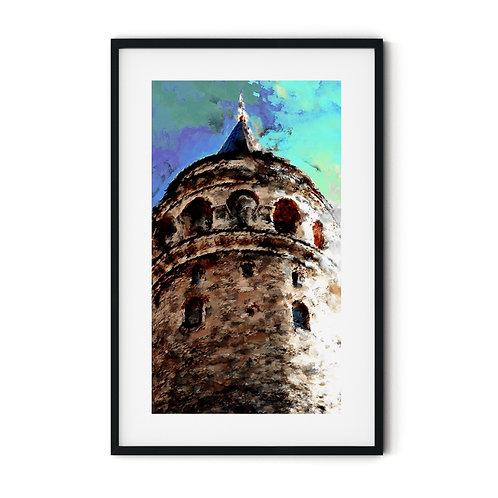 Galata tower Framed Wall Art