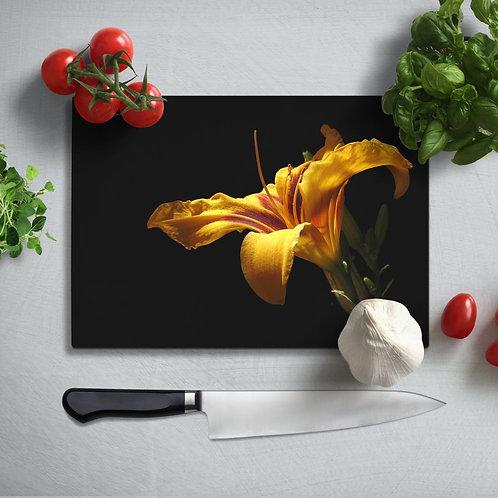 Flower  Uv Printed Glass Chopping Board 35x25 cm