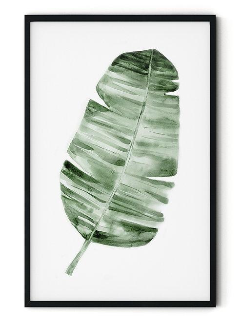 Green leaf Framed Wall Art
