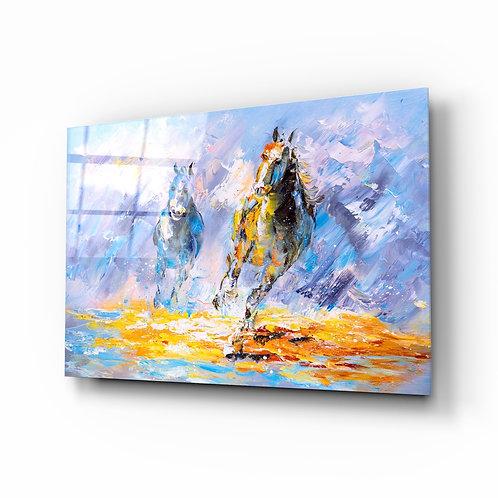 Horse Glass Printing