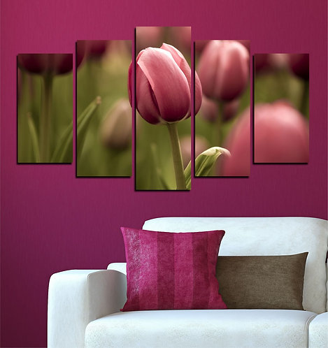 Tulip (6) 5 Pieces MDF Painting