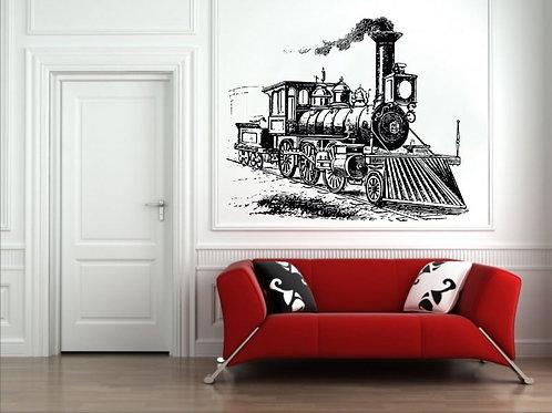 Concept Train Wall Sticker