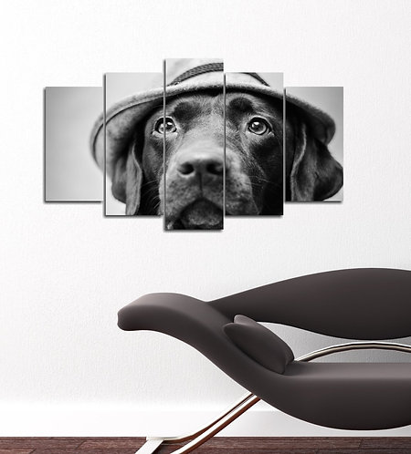 Greyhound 5 Pieces MDF Painting