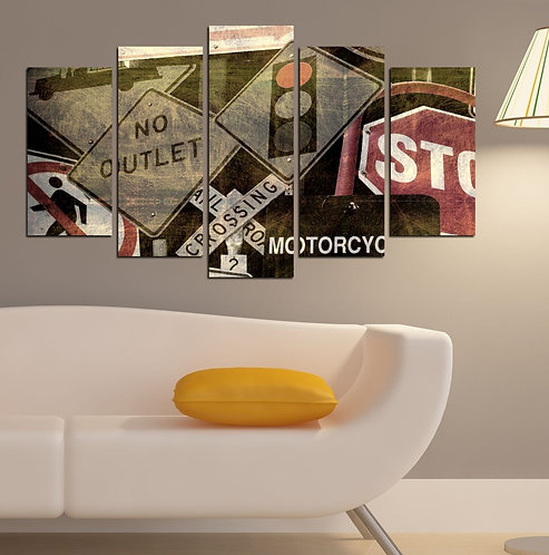 No outlet 5 Pieces MDF Painting