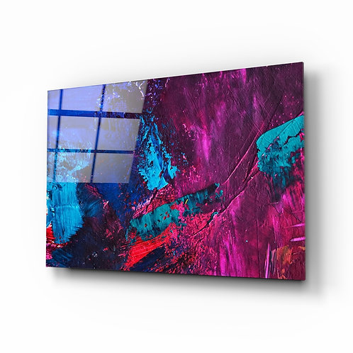 Abstract Colors Glass Printing