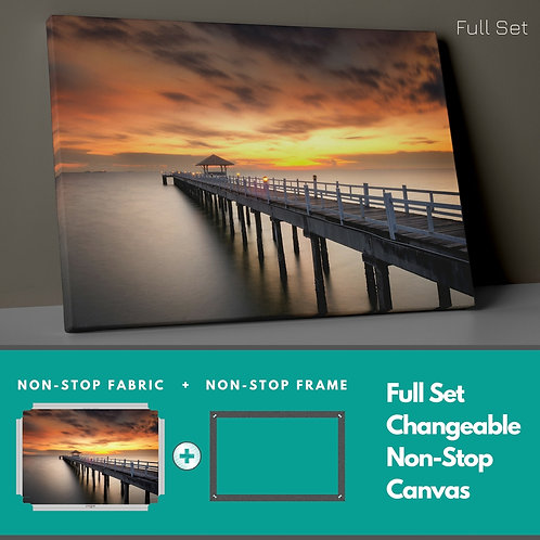 Sunset And Pier Non-Stop Canvas Printings