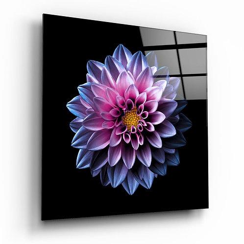 Purple Flower UV Printed Glass Painting