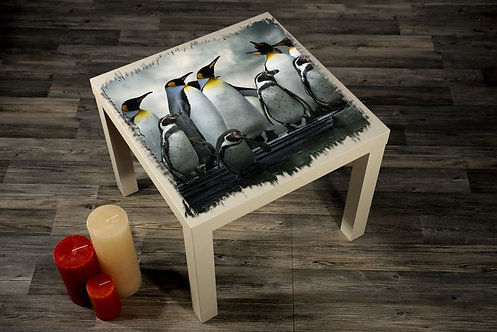 Penguins Printed Coffee Tables