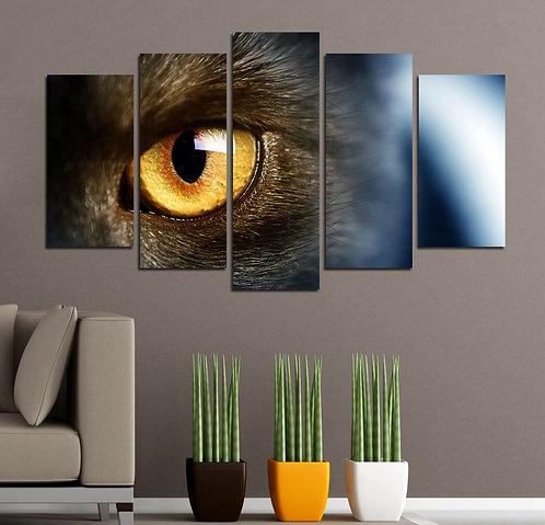 Cat (6) 5 Pieces MDF Painting