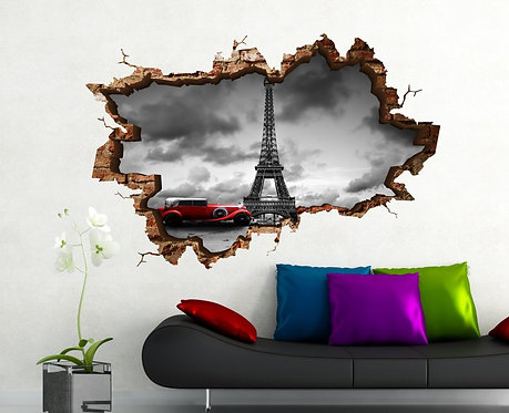 Eiffel 3D Wall Sticker
