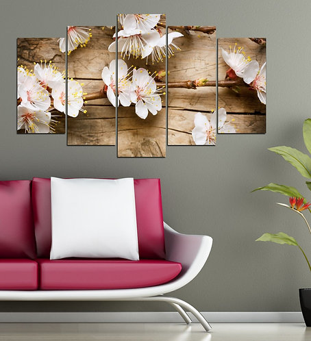Flowers (3) 5 Pieces MDF Painting