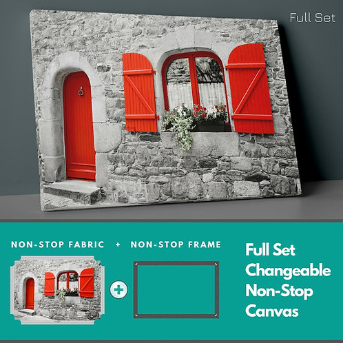 Red Window Non-Stop Canvas Printings