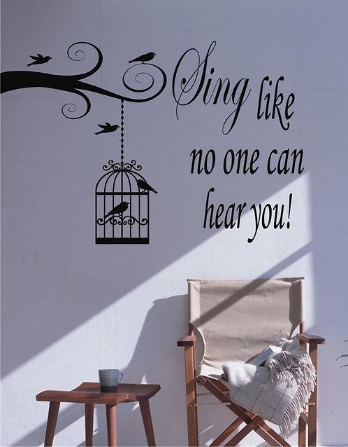 Sing Like ... Wall Sticker