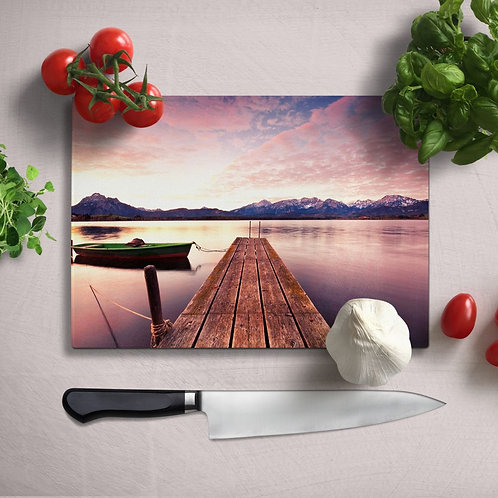Pier Uv Printed Glass Chopping Board 35x25 cm