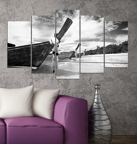 B&W Kayak 5 Pieces MDF Painting