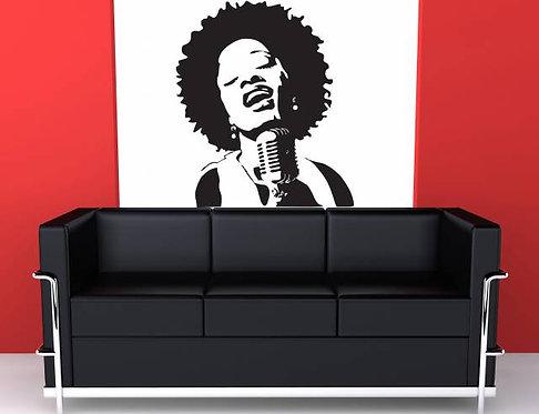 Singer Wall Sticker