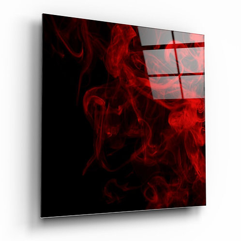Red Smoke UV Printed Glass Printing