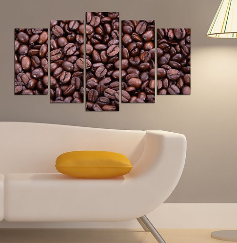 Coffee beans 5 Pieces MDF Painting