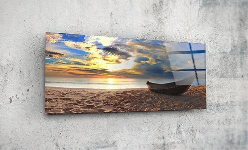 Beach  UV Glass Printing