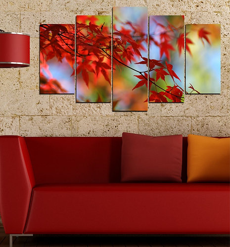 foliage 5 Pieces MDF Painting