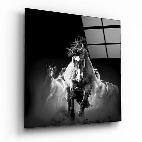 Running Horse UV Printed Glass Printing