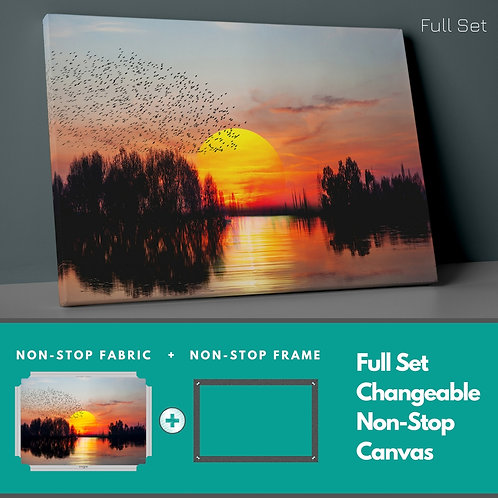 Sunset Migration Non-Stop Canvas Printings