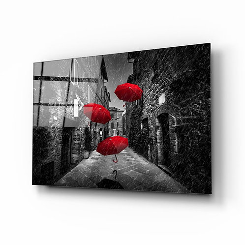 Umbrella UV Printed Glass Printing