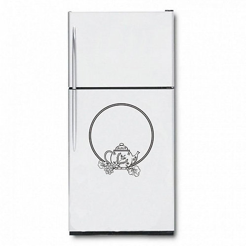 Tea Time Fridge  Wall Sticker