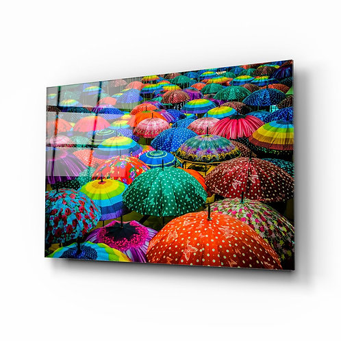 Umbrella UV Printed Glass Printing