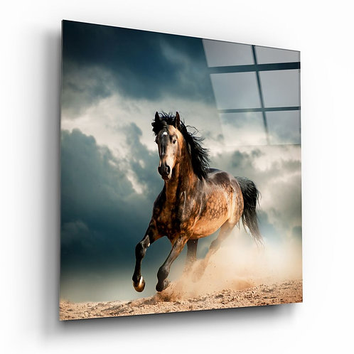 Running Horse UV Printed Glass Printing