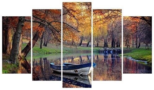 Autumn 5 Pieces MDF Painting