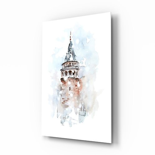 Galata Tower Glass Printing